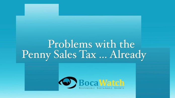 Problems with the Penny Sales Tax… Already