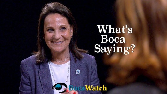 What's Boca Saying? With Andrea Levine O'Rourke. The View from the Dais.