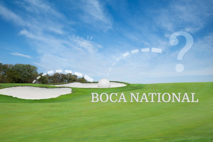 Out of The Rough and Into The Sand Trap at Boca National