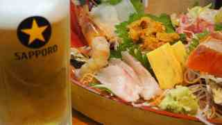 海鮮とビール
