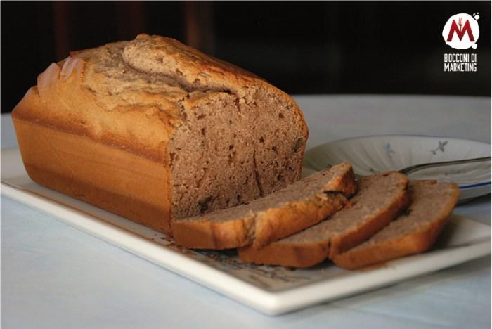 Plumcake con farina di castagne, burro di arachidi e noci