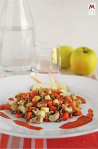 Insalata agrodolce di lenticchie e mele