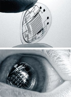 Contact Lenses with Electronics on board