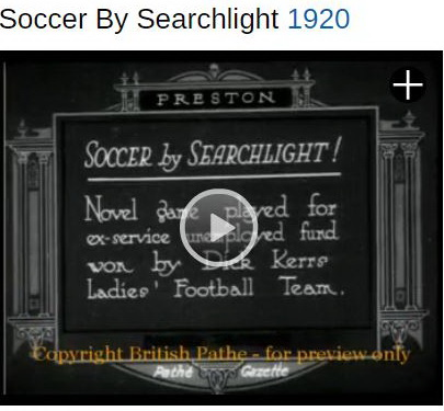 soccer by searchlight 1920