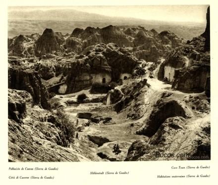 población de cuevas en la sierra de Guadix
