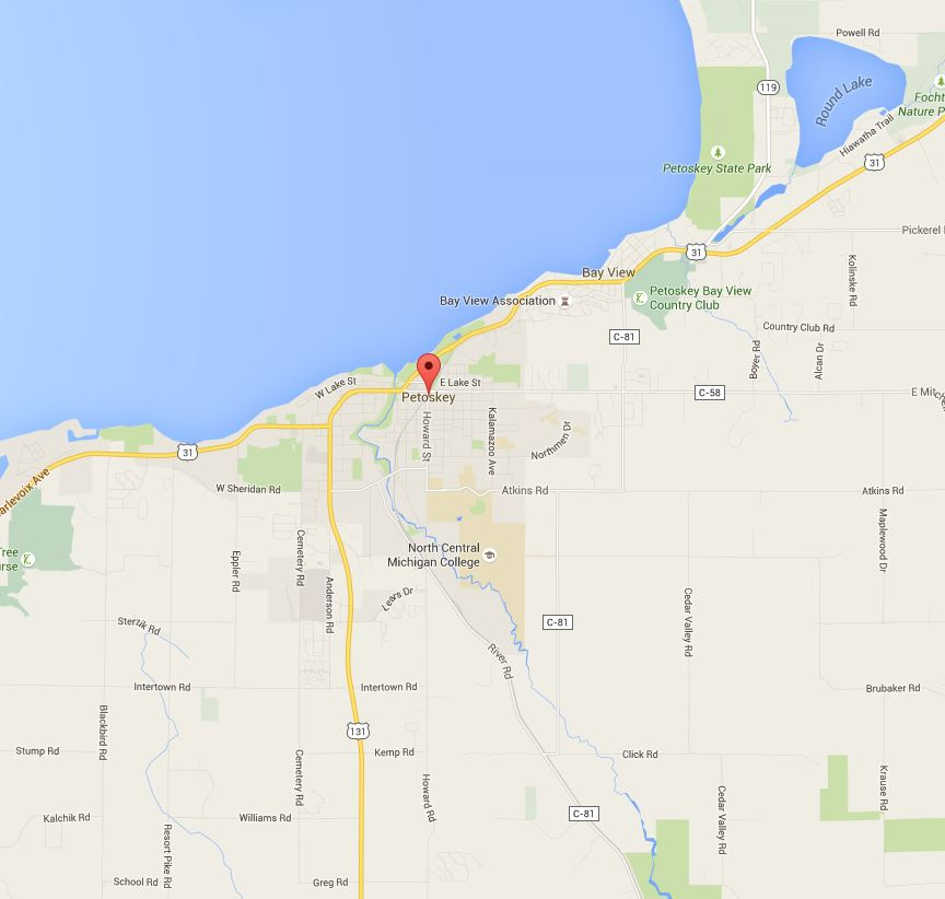 Map of Petoskey, MI