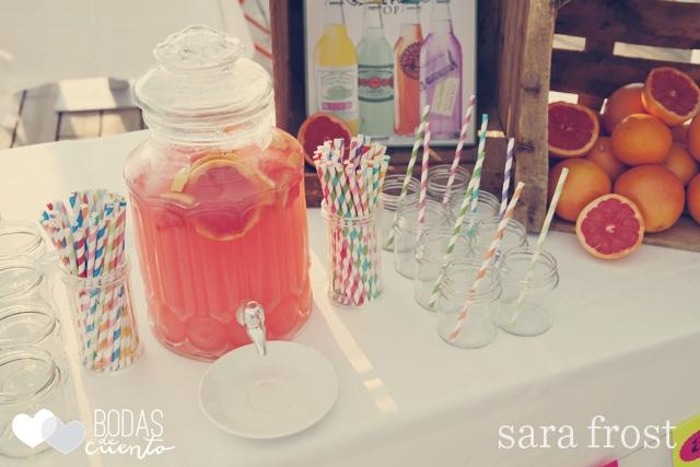 Barra de limonada rosa