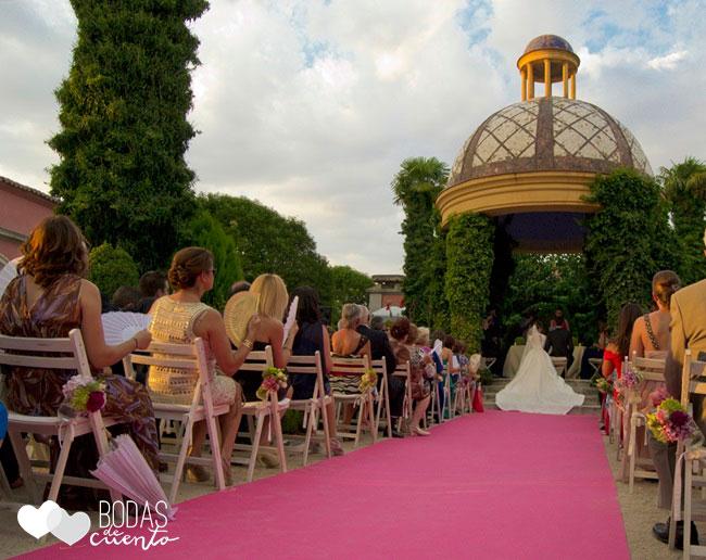 Decoración ceremonia, Bodas de Cuento, wedding planner, Boda Madrid, Castillo de Viñuelas