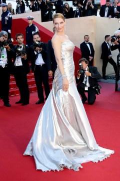 Novias Uma Thurman in Versace