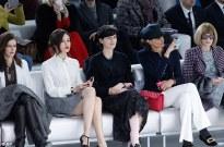 Anna Mouglalis, Olga, Stella Tennant, Ines de la Fressange and Vogue US editor Anna Wintour at Chanel