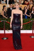 Jennifer Lawrence arrived in a Christian Dior Couture