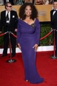 Oprah Winfrey wore a Badgley Mischka dress and Lorraine Schwartz jewellery