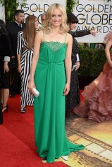 Taylor Schilling wore a custom-made Thakoon gown with a clutch and jewellery by Swarovski.