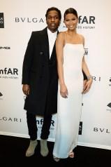 Chanel Iman y el rapero ASAP Rocky in Calvin Klein