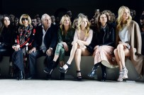 Kendall Jenner, Anna Wintour, Sir Philip Green, Kate Moss, Lottie Moss, Natalie Massenet, Poppy Delevingne at Topshop Unique
