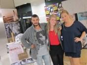Con Jessi y Mireia de El Mostrador