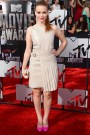Holland Roden in Salvatore Ferragamo with Brian Atwood shoes