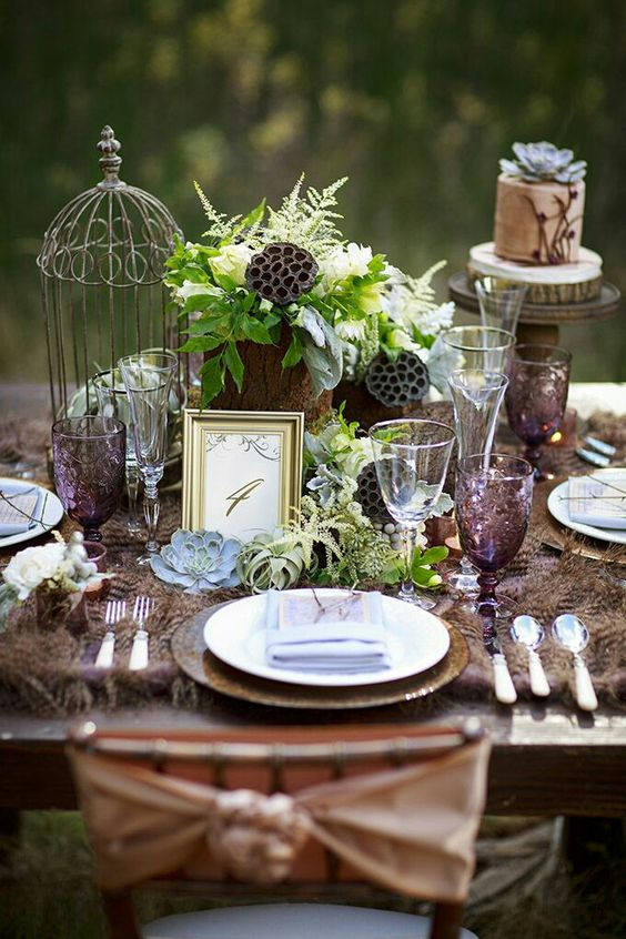 Bride And Groom Table Centerpiece