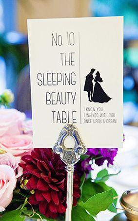 Creative Disney Table Names By Fairy Tale Weddings