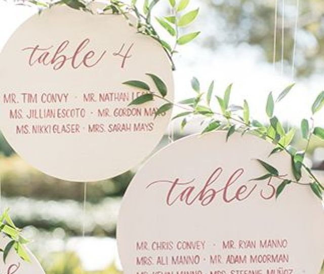 Table Numbers And Place Cards In One Arent They Adorable