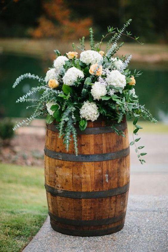 Fall Flowers Wedding Centerpieces