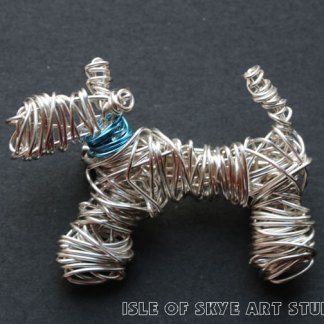 Wirework Jewellery Scottie Dog by Marion Boddy-Evans Isle of Skye Art Studio