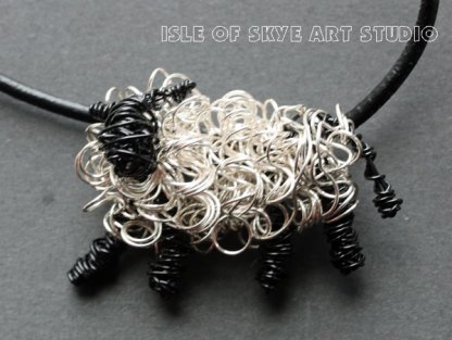 Wirework Jewellery Sheep Necklace by Marion Boddy-Evans Isle of Skye Art Studio