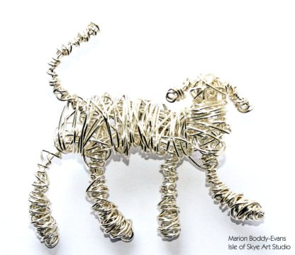 Wirework Dog by Marion Boddy-Evans Isle of Skye Art Studio