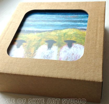 Sheep coasters and tablemats by Marion Boddy-Evans Isle of Skye Art Studio