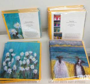 Art Cards Sheep Dog and Daisies
