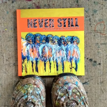 Cover from Never Still book on paintings by Marion Boddy-Evans