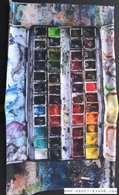 Watercolour snood