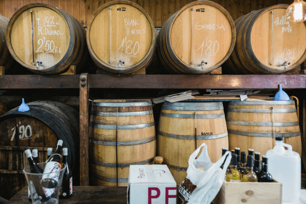 Drink Wine from the barrel Barcelona wine bar, Bodega Maestrazgo!