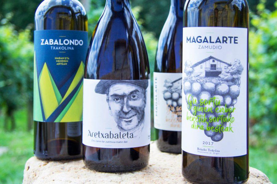 Txakoli Magalarte Zamudio variedad de vinos