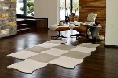 Vorwerk Teppichboden Teppichfliesen-Set Curve einfarbig oder zweifarbig
