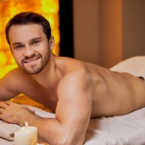 To showcase the relaxing atmosphere of sensual erotic male massage
