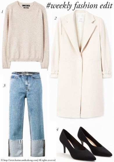 #Weeklyfashionedit | Cream coat & cashmere jumper