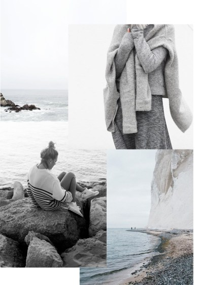 Winter by sea inspired mood board © Karine Kong, All Rights Reserved