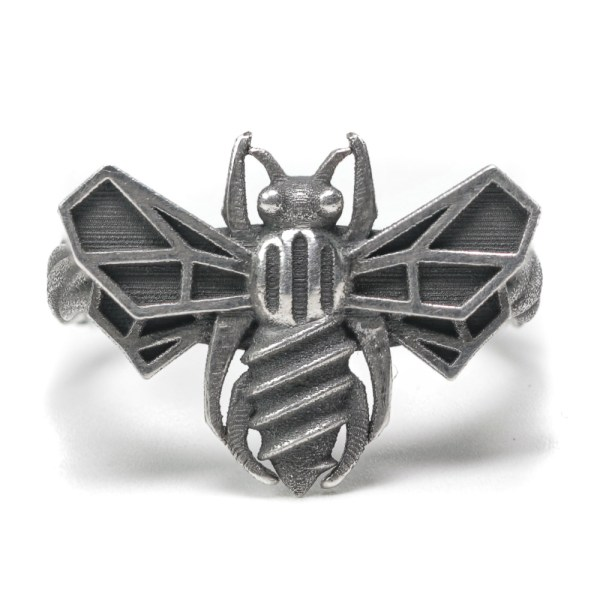 Bee Cause Ring silver front