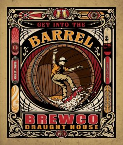 Brewco Get Into the Barrel poster