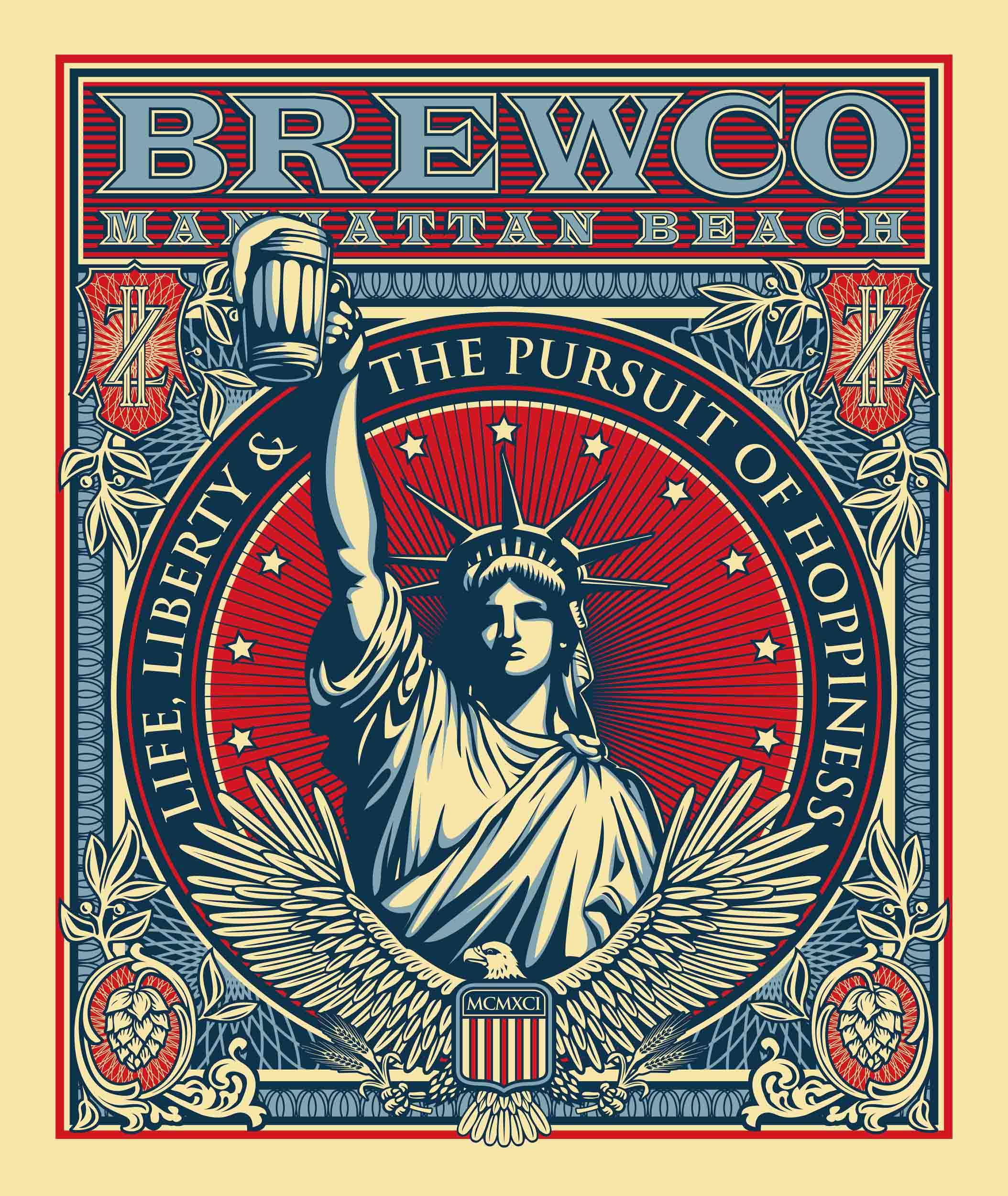 Brewco Pursuit of Hoppiness poster.
