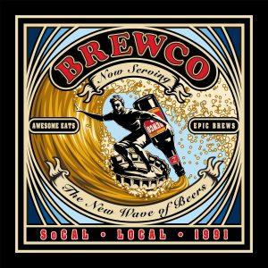 Brewco New Wave of Beers poster.