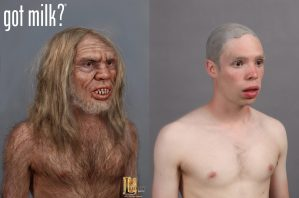 got milk? commercial caveman Gary photoshop makeup designed for Legacy Effects.