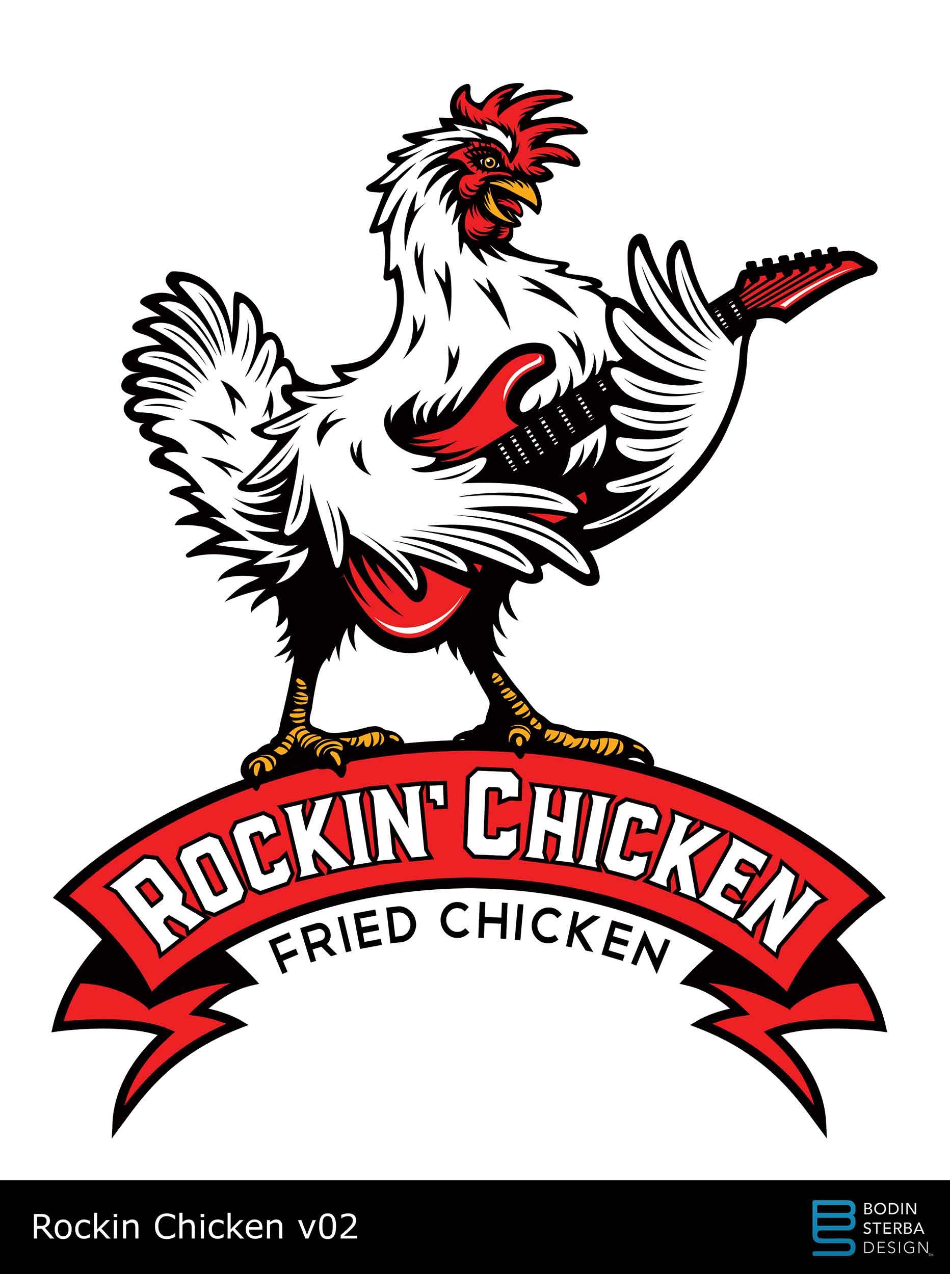 Rockin' Chicken logo v02 pitch