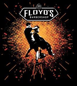 Floyd's Barbershop T-shirt design V02 designed for The Studio El Segundo.
