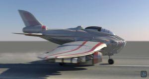 Jet design takeoff.