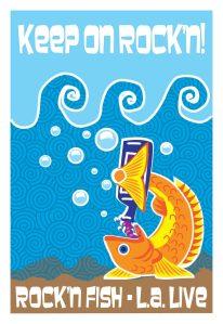 Rock'n Fish L.A. Live T-shirt design V05.