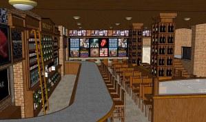 Rock'n Fish L.A. Live interior render 2 designed for The Studio El Segundo.