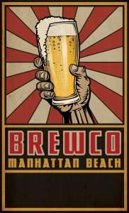 Manhattan Beach Brewco menu cover without bottom text.