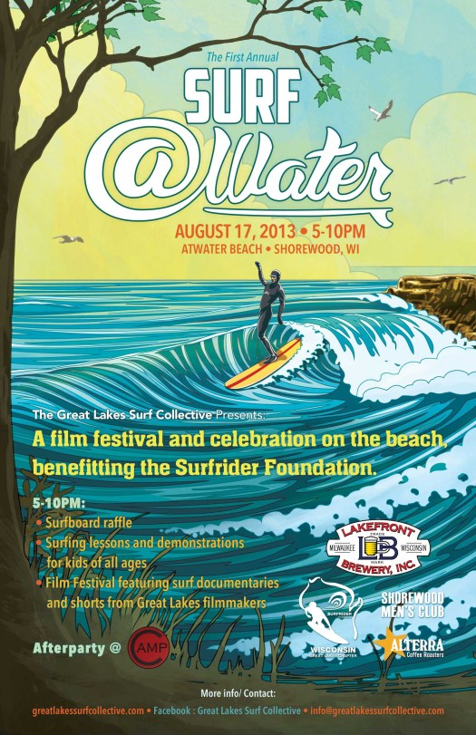 Surf Atwater event poster